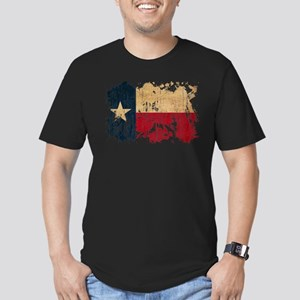 Texas Flag Men's Fitted T-Shirt (dark)