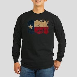 Texas Flag Long Sleeve Dark T-Shirt