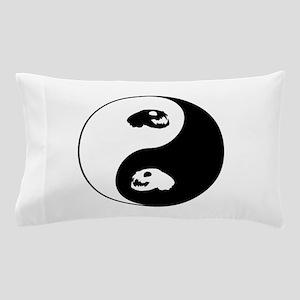 Yin Yang Cat Skull Art Pillow Case