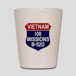 100 Missions Shot Glass