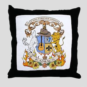 Kaniac Crest English Motto Throw Pillow
