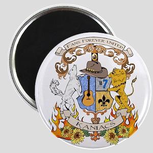 Kaniac Crest English Motto Magnet