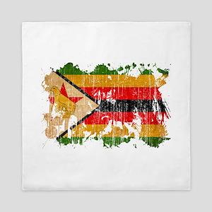 Zimbabwe Flag Queen Duvet