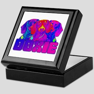 Op Art Doxie Keepsake Box