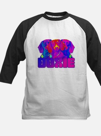 Op Art Doxie Kids Baseball Jersey