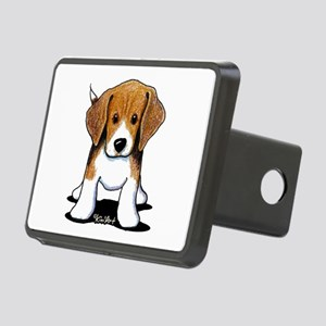 Beagle Puppy Rectangular Hitch Cover