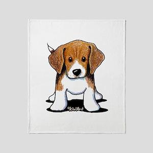 Beagle Puppy Throw Blanket