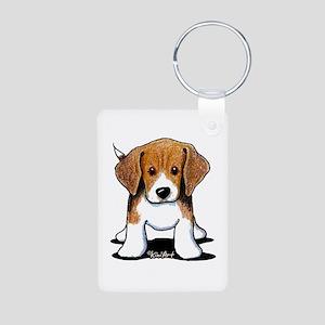 Beagle Puppy Aluminum Photo Keychain