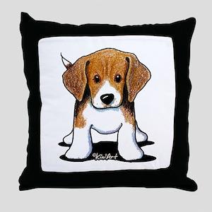 Beagle Puppy Throw Pillow