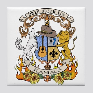 Kaniac Crest Cherokee Motto Tile Coaster