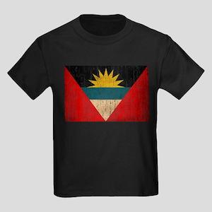 Antigua and Barbuda Flag Kids Dark T-Shirt