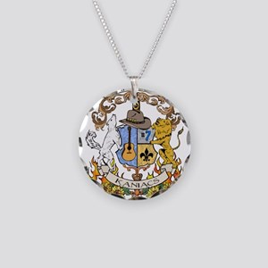 Kaniac Crest Cherokee Motto Necklace Circle Charm