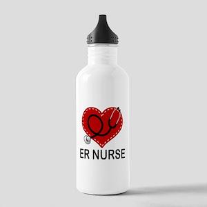 ER Nurse Heart Stainless Water Bottle 1.0L