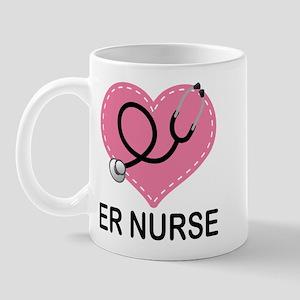 ER Nurse Heart Mug