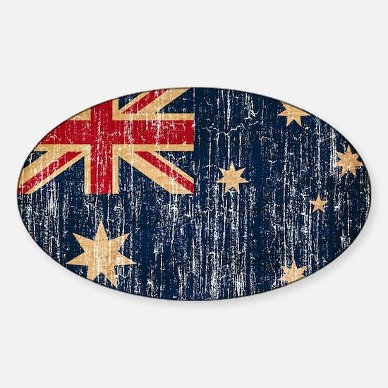 Australia Flag Sticker (Oval)