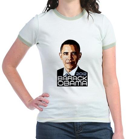 2012 Barack Obama Portrait Jr. Ringer T-Shirt