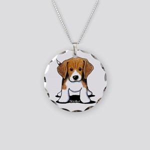 Beagle Puppy Necklace Circle Charm
