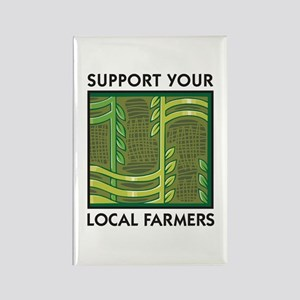Support Your Local Farmers Rectangle Magnet