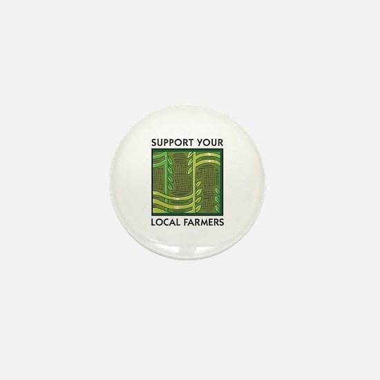 Support Your Local Farmers Mini Button