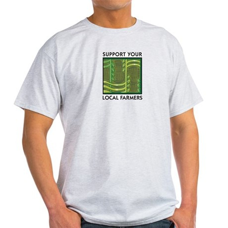 Support Your Local Farmers Ash Grey T-Shirt