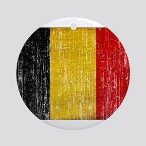 Belgium Flag Ornament (Round)