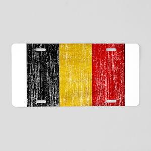Belgium Flag Aluminum License Plate