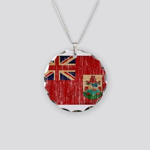 Bermuda Flag Necklace Circle Charm