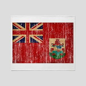 Bermuda Flag Throw Blanket
