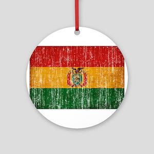 Bolivia Flag Ornament (Round)