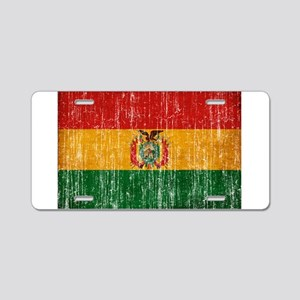 Bolivia Flag Aluminum License Plate