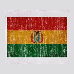 Bolivia Flag Throw Blanket