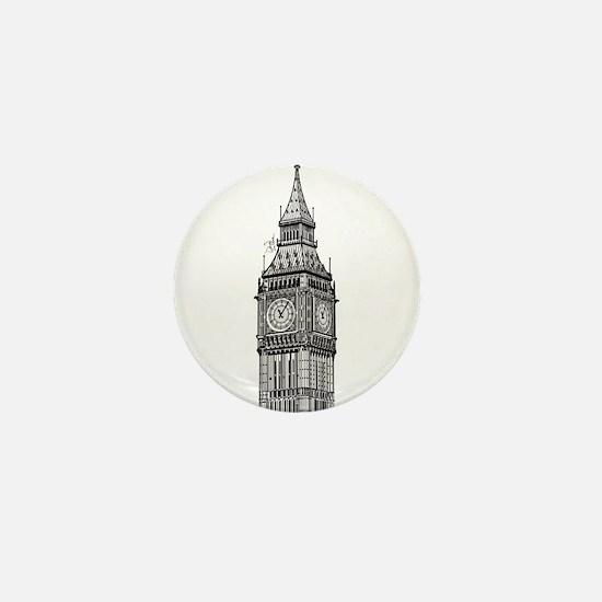 London Big Ben Mini Button