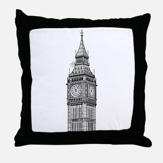 London Big Ben Throw Pillow