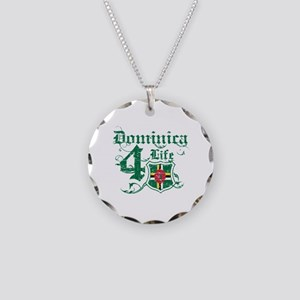 Dominica for life designs Necklace Circle Charm