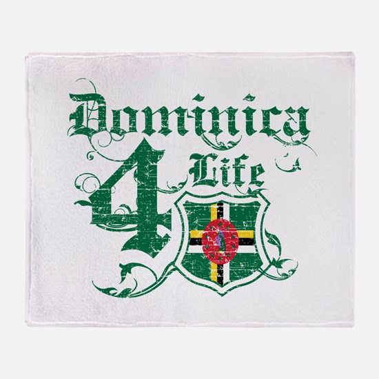Dominica for life designs Throw Blanket