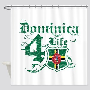 Dominica for life designs Shower Curtain
