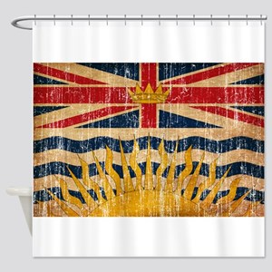 British Columbia Flag Shower Curtain