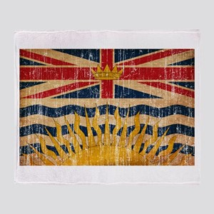 British Columbia Flag Throw Blanket