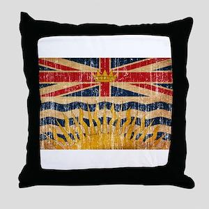 British Columbia Flag Throw Pillow