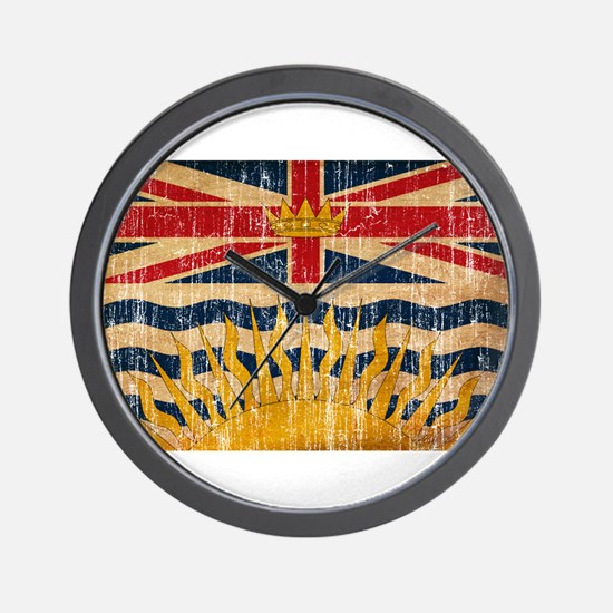 British Columbia Flag Wall Clock