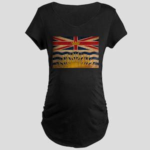 British Columbia Flag Maternity Dark T-Shirt