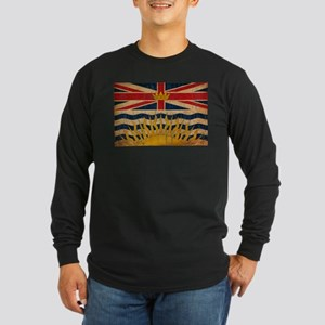 British Columbia Flag Long Sleeve Dark T-Shirt