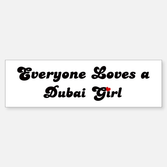 Loves dubai girl bumper bumper bumper sticker