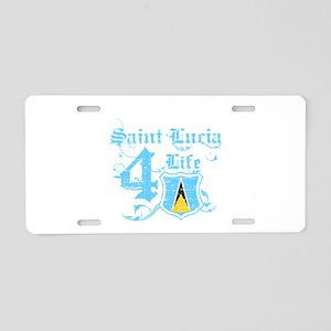 Saint Lucia for life designs Aluminum License Plat