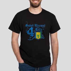 Saint Vincent for life designs Dark T-Shirt