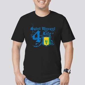 Saint Vincent for life designs Men's Fitted T-Shir