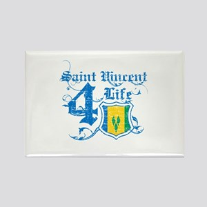 Saint Vincent for life designs Rectangle Magnet