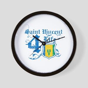 Saint Vincent for life designs Wall Clock