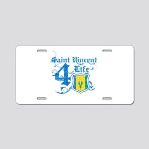 Saint Vincent for life designs Aluminum License Pl