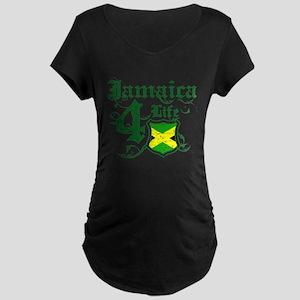 Jamaica for life designs Maternity Dark T-Shirt
